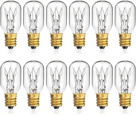 TGS Gems 6 Pack Himalayan Salt Lamp 25 Watt Original Replacement Candelebra