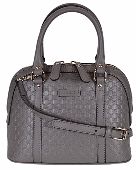 55309e7fa2a Gucci Women s Micro GG Leather Convertible Mini Dome Purse (449654 Grey)   Amazon.ca  Shoes   Handbags