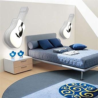 Brightllt Led Zimmer Schlafzimmer Licht Kreative Personlichkeit Gitarre Design Deckenleuchte Schlafzimmer Dach Lampen Fur Kinder 650 300 Mm Amazon De Beleuchtung