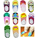 10 pairs Cute Baby Ankle Cotton Toddler Stripes Anti Slip Skid Socks Baby Socks for 6 - 18 Month