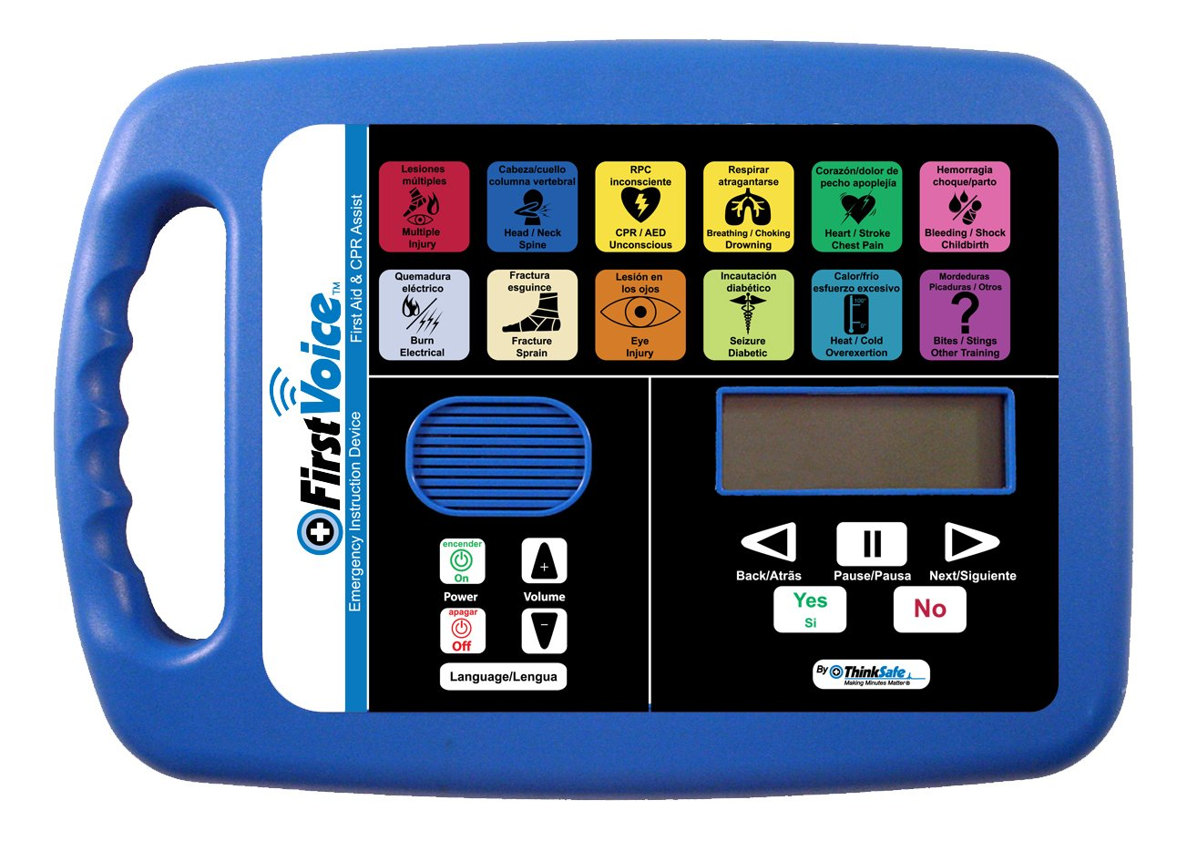 Image of First Voice AVU5001-T10CPR First Aid and CPR Assist Plus Certified First Aid and CPR Training Package, for 10 People First Aid Kits