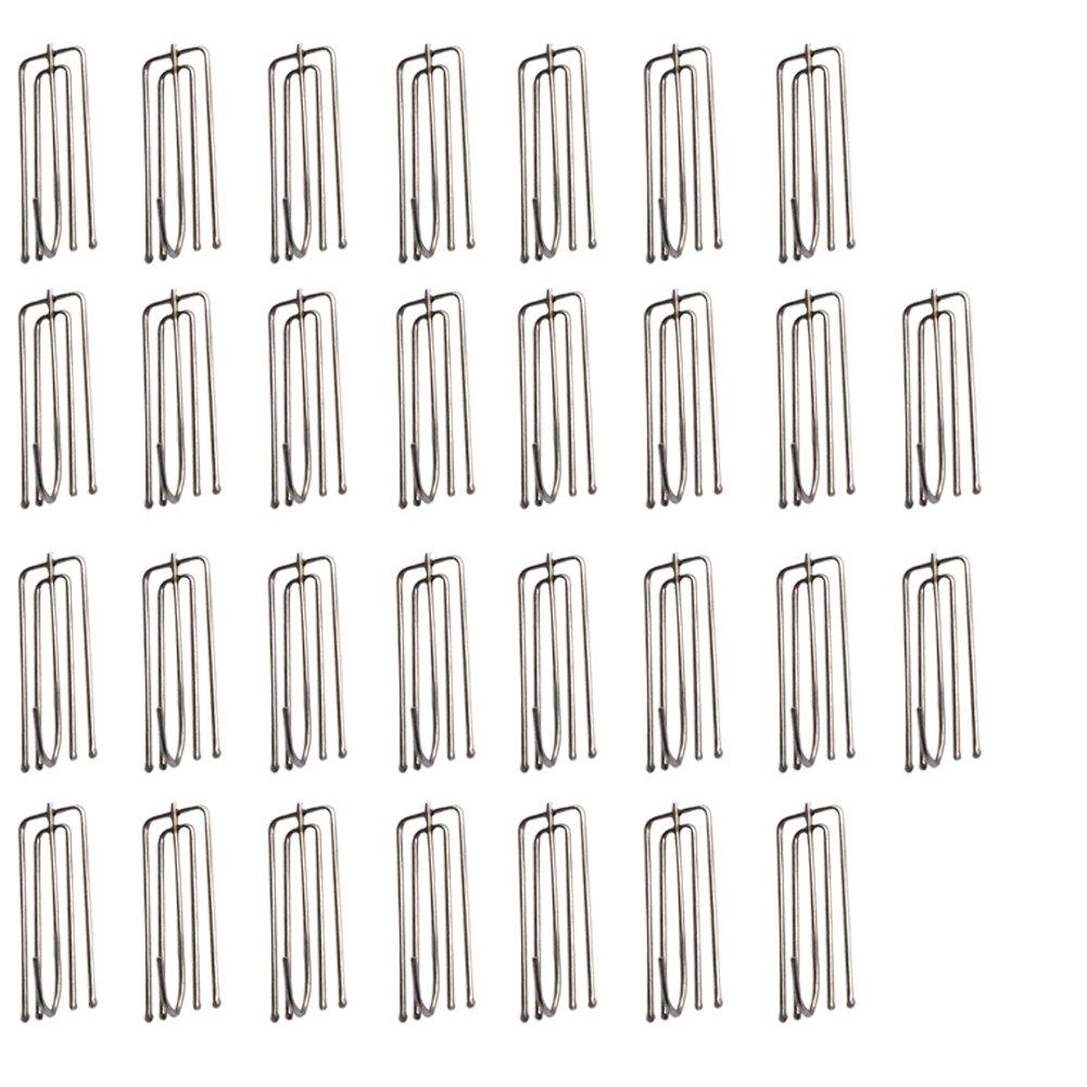 (30) - Morainn 30pcs Curtain Pleater Tape Hooks Stainless Steel (30) 30  B073GY1X2K