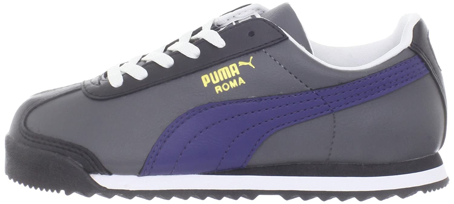 Puma Roma Basic JR JR Basic Turnschuhe (Little Kid Big Kid),Shadow Blau Gold,4 M US Big Kid b99f64