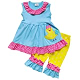 Amazon Price History for:So Sydney Toddler Girls 2 Pc Easter Bunny Pastels Top and Pants Holiday Outfit