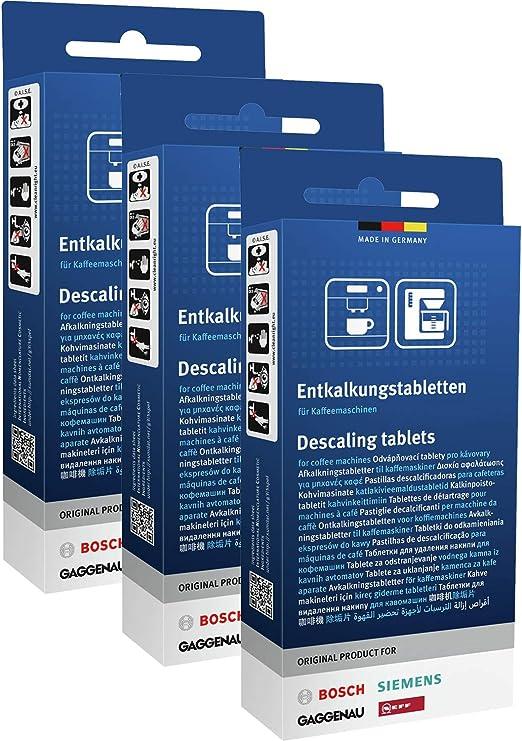 3x Bosch Siemens Pastillas descalcificadoras TZ80002 00311821 311821 Cafetera totalmente automática EQ: Amazon.es: Hogar