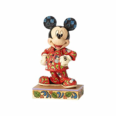 jim shore disney traditions by enesco mickey in christmas