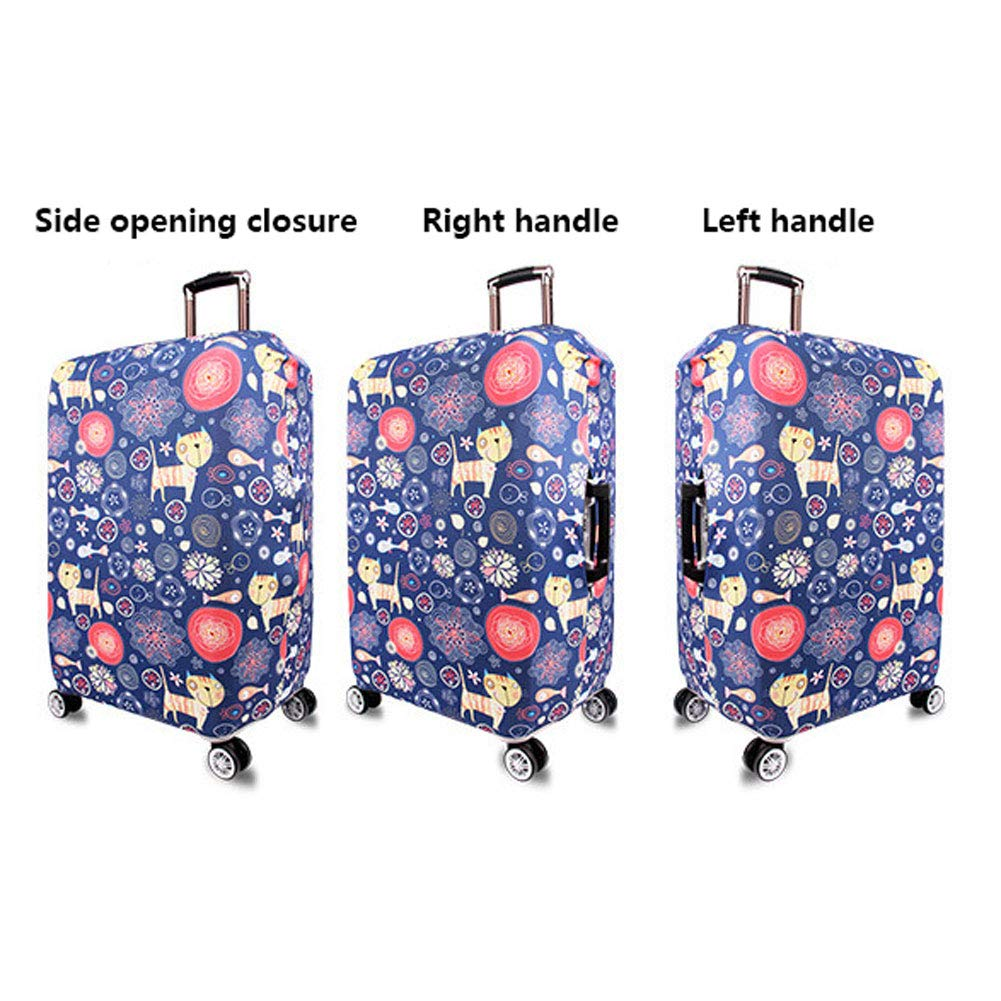 Travel Elastic Spandex Suitcase Protector Fits 18 to 32 Inch Luggage,D,M Hbwz Luggage Cover,Protective Washable Suitcase Cover