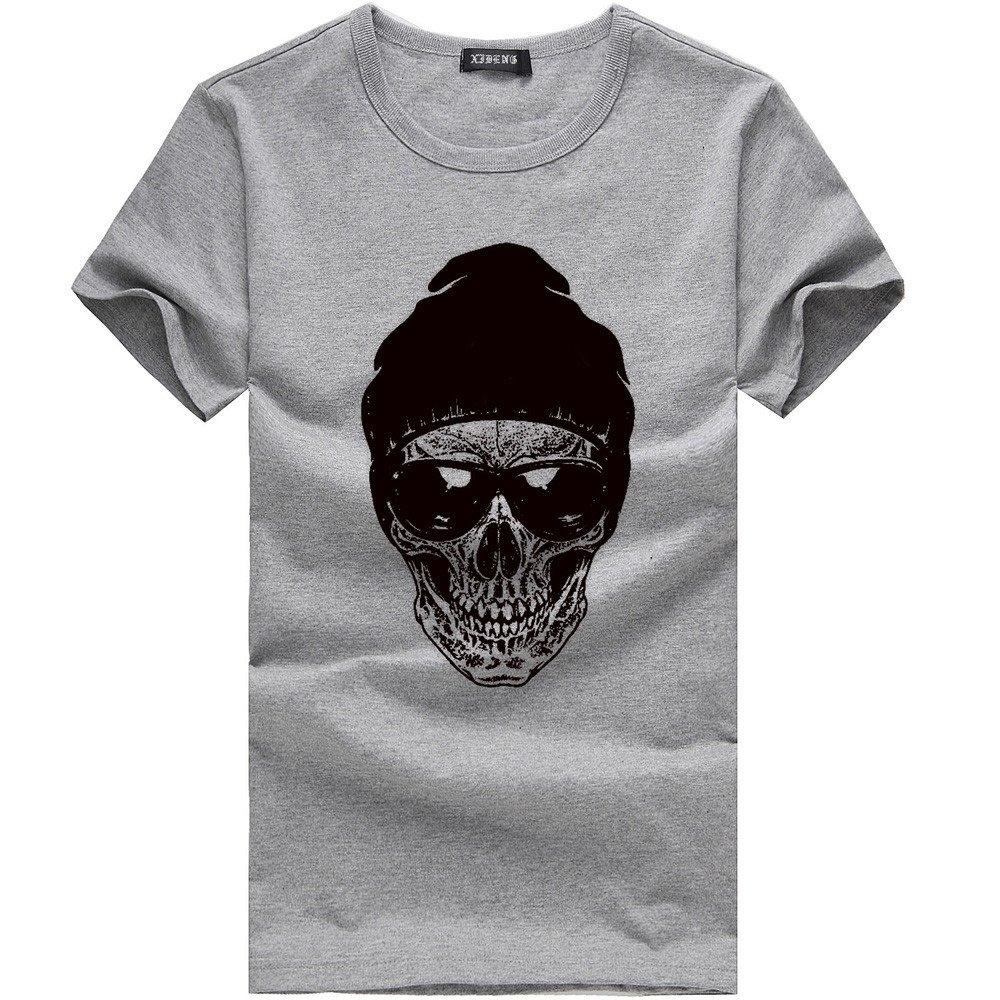 Internet_camisetas de hombre Hombres Que Imprimen la Camisa de Manga Corta Camiseta de algodón Blusa Casual: Amazon.es: Ropa y accesorios