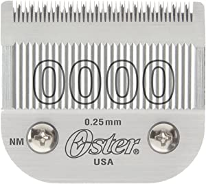 Oster Detachable Blade Size 0000 Fits Classic 76, Octane, Model One, Model 10 Clippers, 0.25 mm