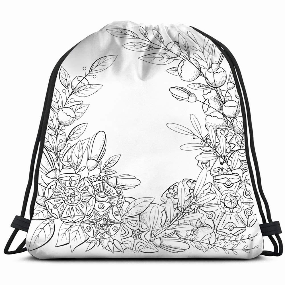 Mochila con Estampado de garabatos para Colorear con diseño Floral ...