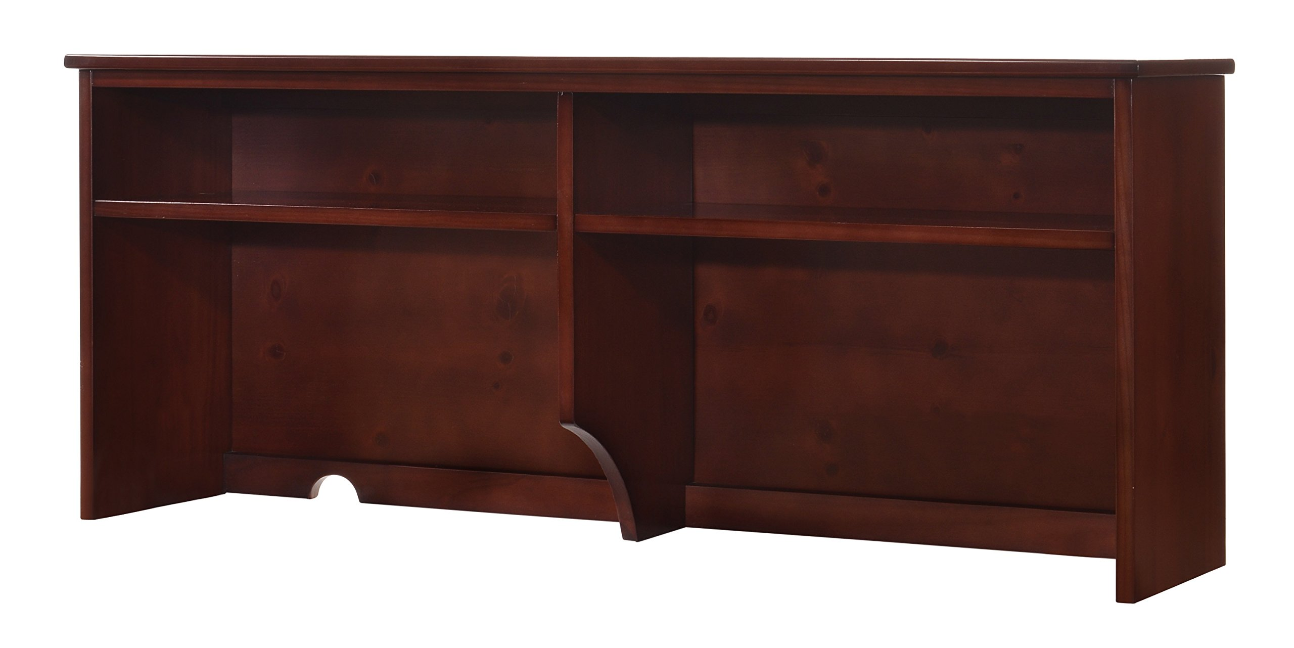Canwood Lakecrest Hutch, Cherry, Desk Hutch Addition, Solid Pine and Composites Construction, Organizing Desk Hutch for Kids Room Teens Room or Small Apartments
