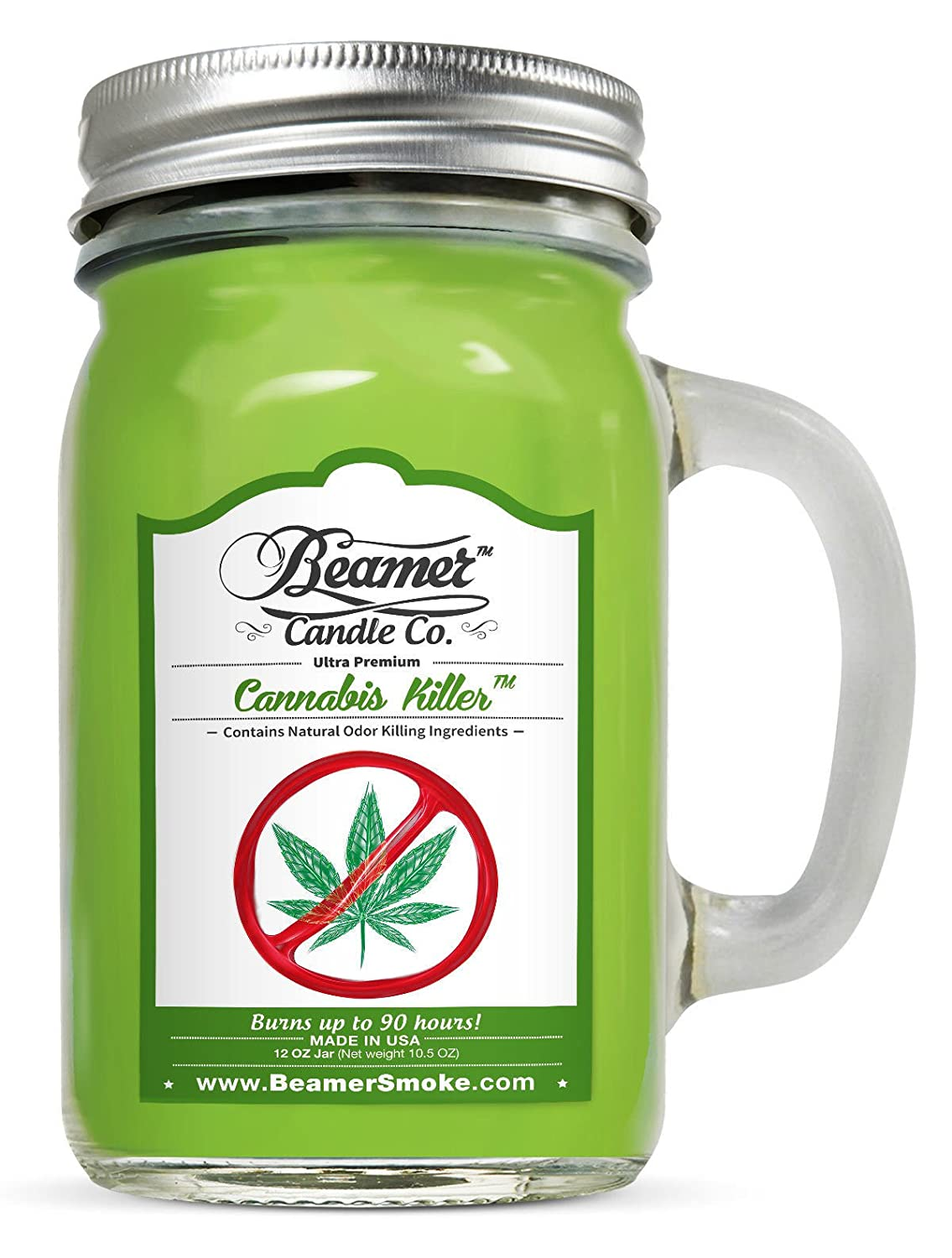 Cannabis Killer 12oz Natural Odor & Smoke Eliminator Scented Candle 90 Hr Chaowalitshop
