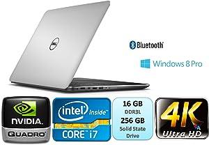 Dell Precision M3800 Mobile Workstation 15.6Inch UltraSharp IGZO UHD Touch (3840x2160) Intel Core i7 i7-4712HQ 16GB DDR3L 256GB SSD NVIDIA Quadro K1100M Windows 8.1 Pro