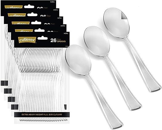 Formal or Wedding Reflections Elegant Plastic Serving Spoon 10 Pack Heavyweight