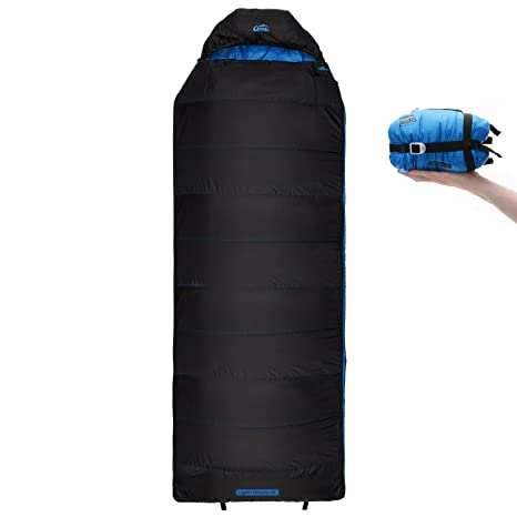 Qeedo Light Hitazo XL Saco de Dormir Ligero Rectangular - Azul