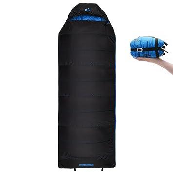 Qeedo Light Hitazo XL Saco de Dormir Ligero Rectangular - Azul: Amazon.es: Deportes y aire libre