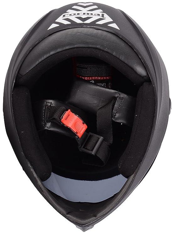 b566e868 FORMAT NH09_Matte Black RAINBOW Full Face Helmet with Chrome Visor  (Black_medium): Amazon.in: Car & Motorbike