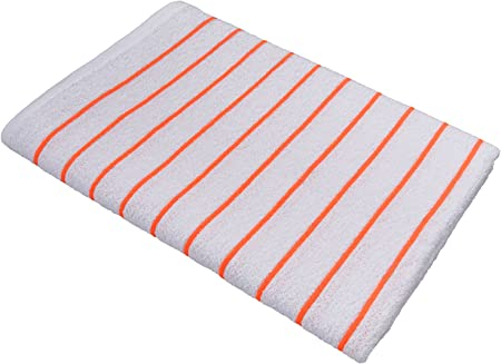 4 new yellow stripe cotton 30x60 cabana towels HOTEL RESORT beach pool towel