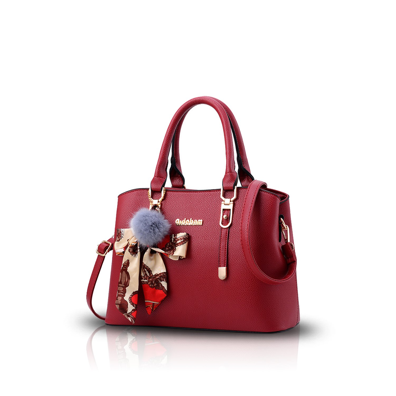 NICOLE & DORIS Handbag Women Handbag Bag Shoulder Bag 2way Bag Ladies' Tote Bag Cigarette Commuter Large Capacity Bag Accepted (Red)