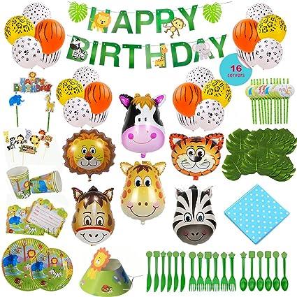 Amazon.com: Suministro de fiesta de cumpleaños temática de ...
