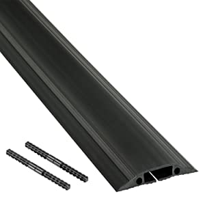"""D-Line Floor Cord Cover/Cord Protector - FC83B Medium Duty, Linkable 