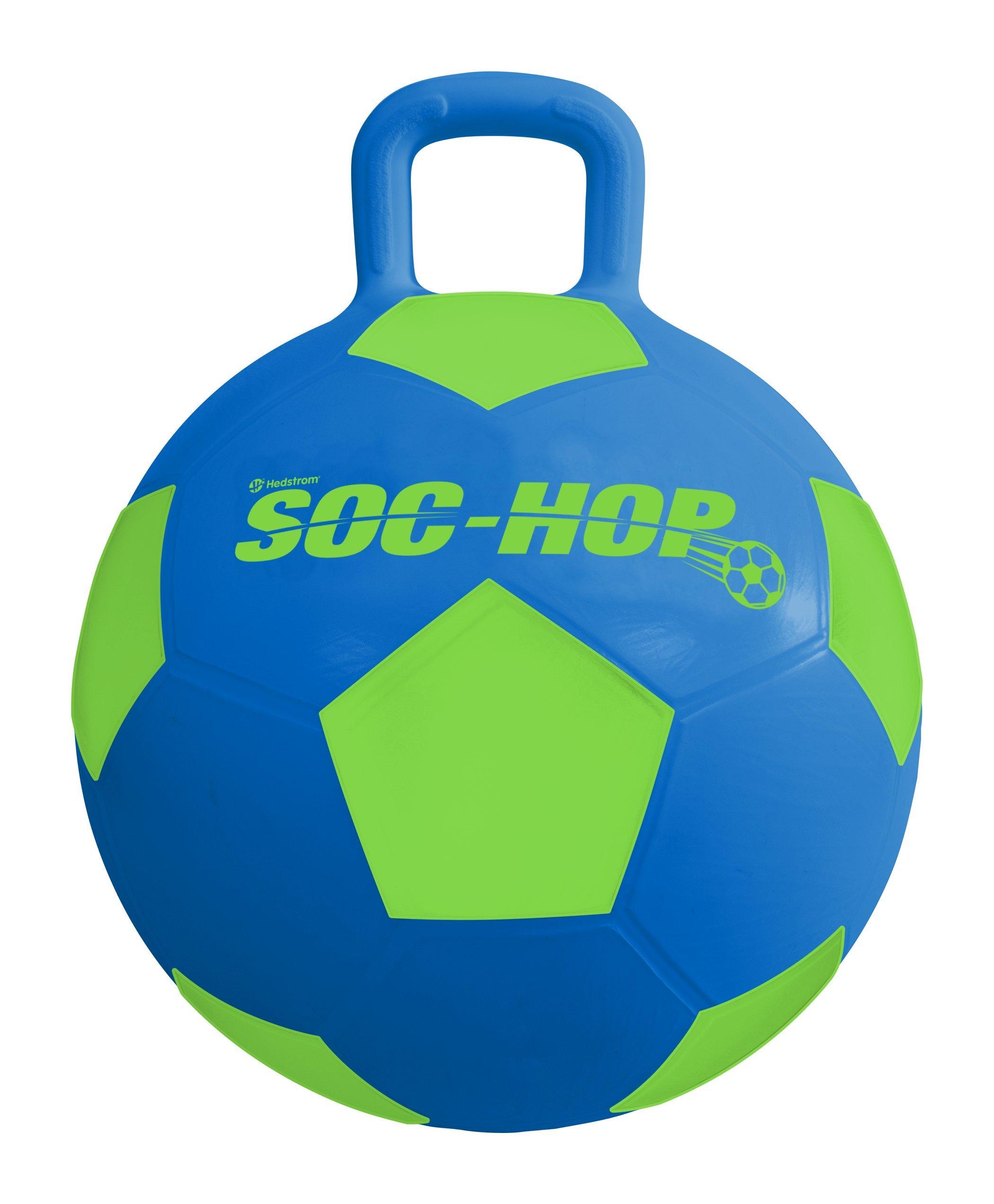 Hedstrom 55-9534 Soc Hop (Soccer Ball Hopper), Blue/Green, 15 Inch