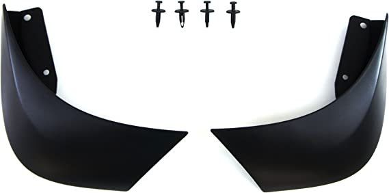 Qty4 Mud Flaps /& Fixings to fit Fiat 500 Abarth Dark Grey 4mm PVC Strip Logo Red