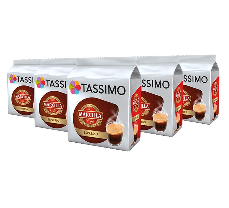 TASSIMO Marcilla Espresso Coffee Capsules Refills T-Discs Pods 5 Pack, 80 Drinks