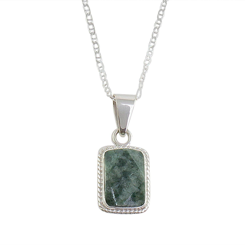 NOVICA Jade .925 Sterling Silver Pendant Necklace Rope Facets 18