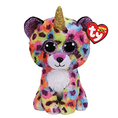 Claire\'s Medium Beanie Boo Official Ty Merchandise Soft Toy (Giselle The Unicorn Leopard): Toys & Games [5Bkhe1802231]