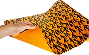 Mod-Liners Printed Tool Box Liner | 18 Inches Wide x 18 Feet Long | by Mod-Box (Flames)