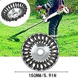 Cepillo redondo para desbrozadora de 200 x 25,4 mm: Amazon ...