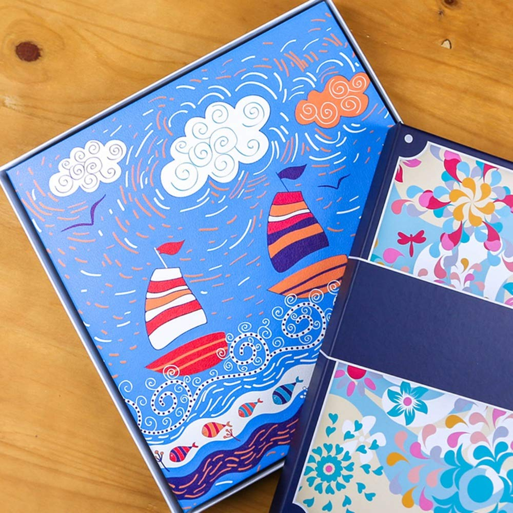 ZZHF xiangche Photo Album, Self-Adhesive Laminating Handmade Album Baby Creative Growing Up Commemorative Book Multifunction PU Practical Photo Album, 4 Colors Optional Album