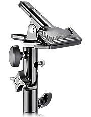 """Neewer® Pince Support Porte Photo Studio Lourd Collier Métallique avec Raccord de 5/8"""" Support Lumière pour Réflecteur"""
