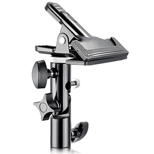 "Neewer® Photo Studio Heavy Duty Metal Clamp Holder with 5/8"" Light Stand Attachment for Reflector"
