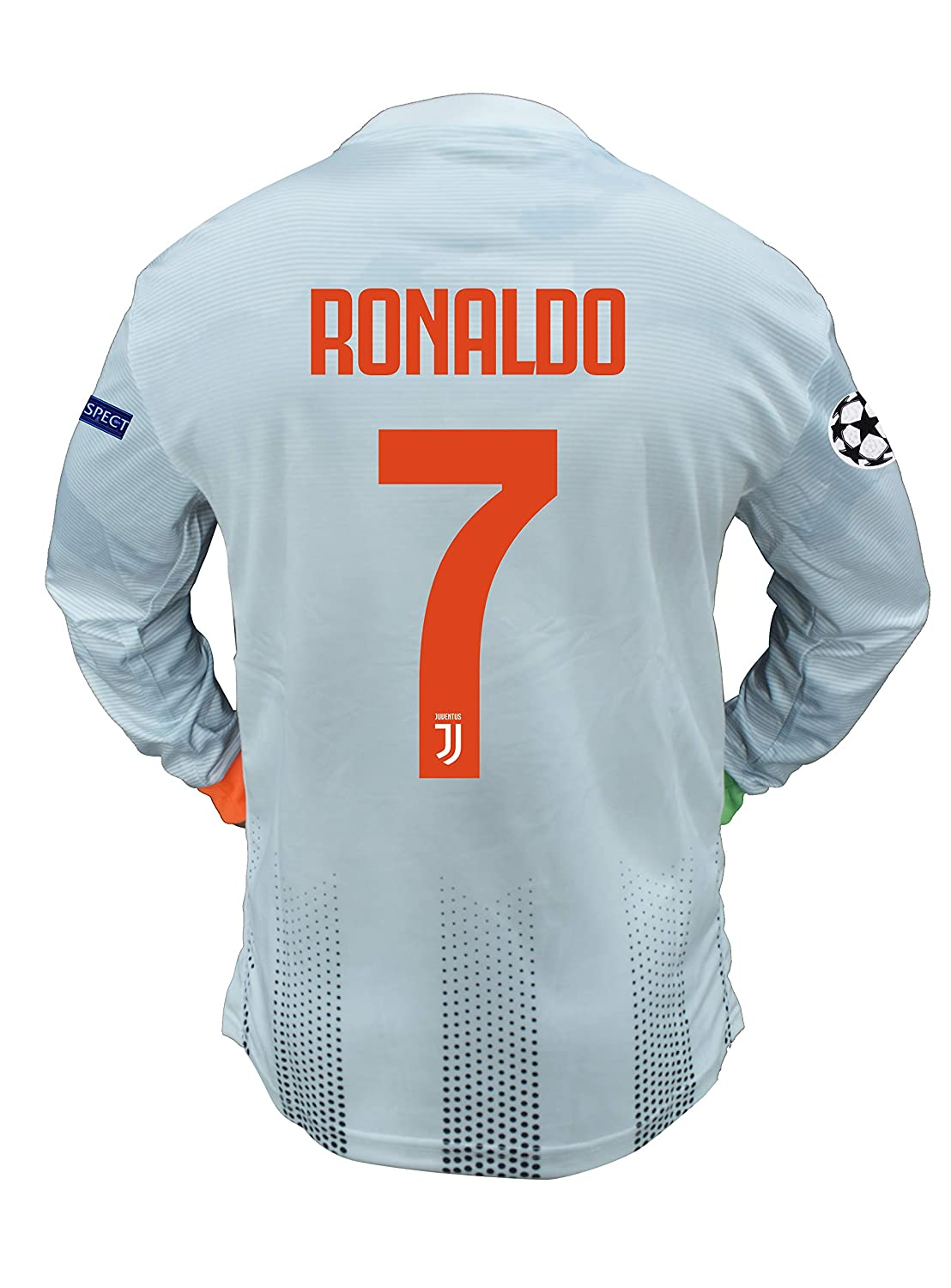 Ronaldo 7 Printed Juventus Full Sleeves Champions League Palace Imported Jersey 2019 20 With Shorts Xl Amazon In Sports Fitness Outdoors