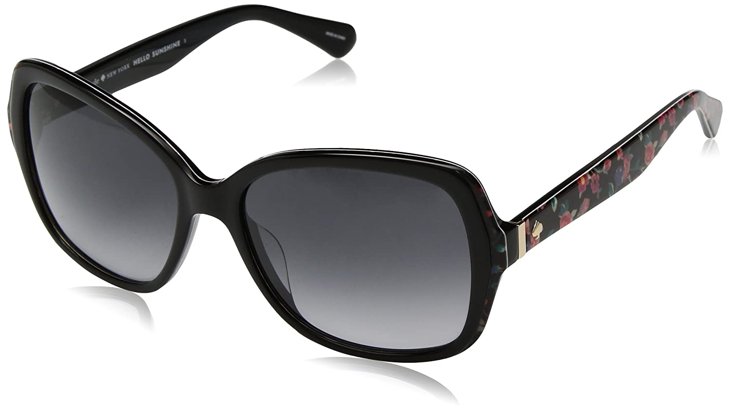 5e46ef74ce Amazon.com  Kate Spade Women s Karalyn s Square Sunglasses black floral  print 56 mm  Clothing