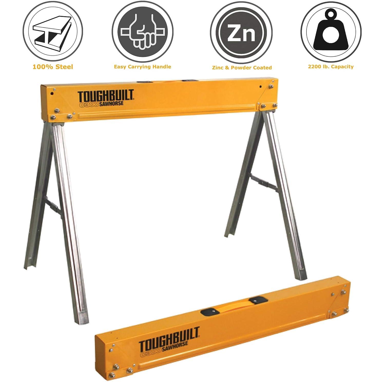 Sawhorse Durable Plastic Heavy Duty Adjustable Foldable Light Weight Sturdy