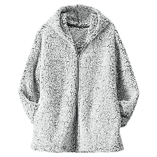 Amazon.com: Clearance! HOSOME Women Zipper Coat Winter Casual Warm Jacket Solid Outercoat: Clothing