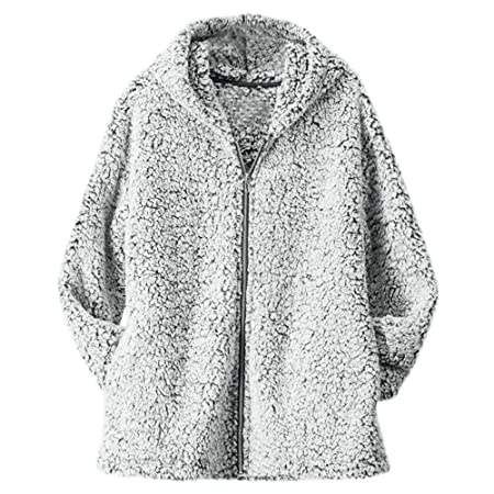 Coat, HighlifeS Women Winter Casual Warm Zipper Jacket Solid Outwear Coat Overcoat Outercoat (Gray, XL): Amazon.com: Grocery & Gourmet Food