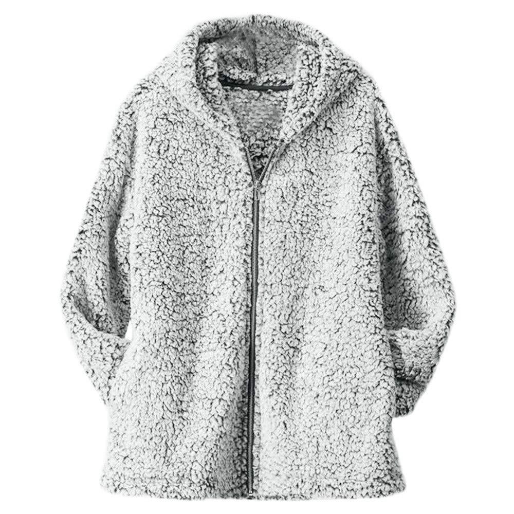 MODOQO Womens Zipper Warm Jacket Casual Solid Outwear Coat for Autumn Winter