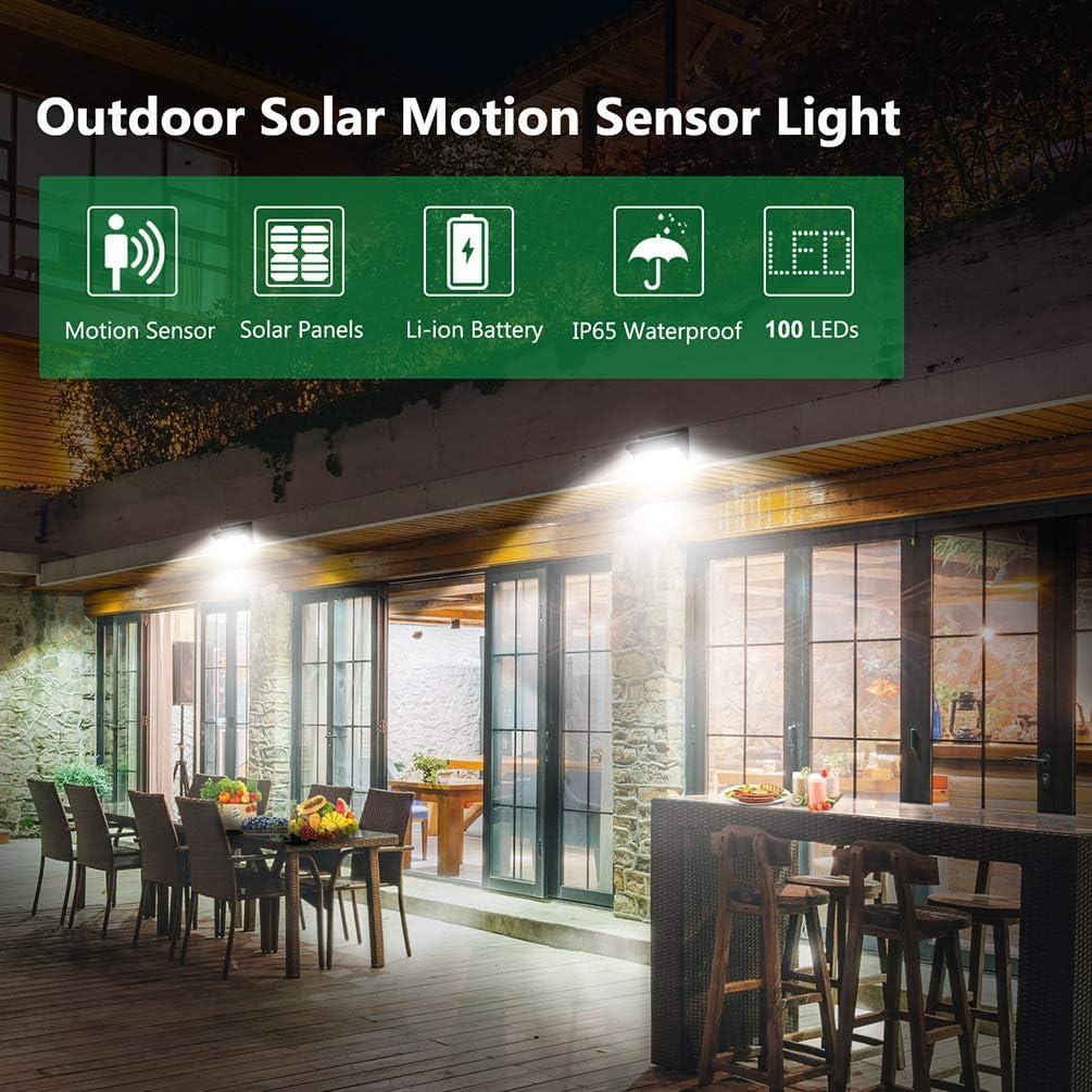 Silverbirdly Outdoor Solarleuchte 100 LED Solarleuchte Outdoor mit Bewegun