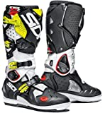 Sidi Crossfire 2 SRS Offroad Boots White Black Yellow (US 10)