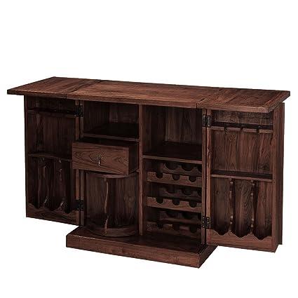 Inhouz INHZ0852(WL) Bar Cabinet (Brown)