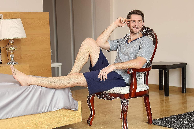 Aibrou Mens Short Pajamas Set Summer Sleepwear 2020 New Pj Set Cotton for Men