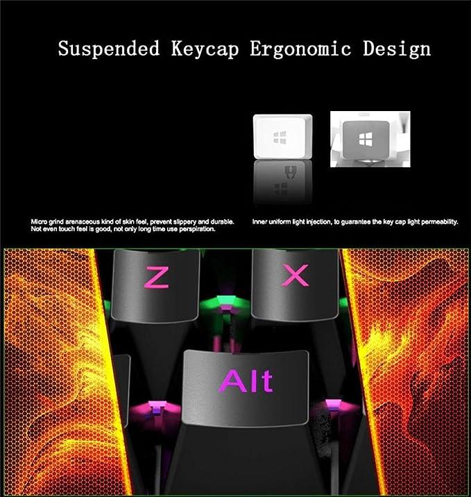 Amazon.com: HXSJ J100 One-hand 35 Keys Wired USB Gaming Mechanical keyboard Keypad for PUBG Durable: Sports & Outdoors