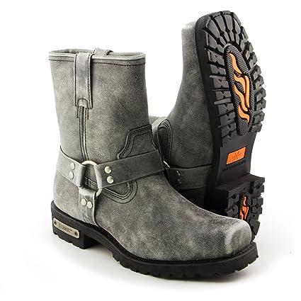 Amazon.com: Xelement LU1603 Short Stone Wash Black Leather ...