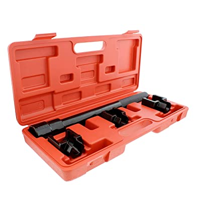 ABN 1/2 Inch Drive SAE Inner Tie Rod Removal Tool Kit – Inner Tie Rod Tool Set with Tie Rod Puller Tool and 3 Adapters: Automotive