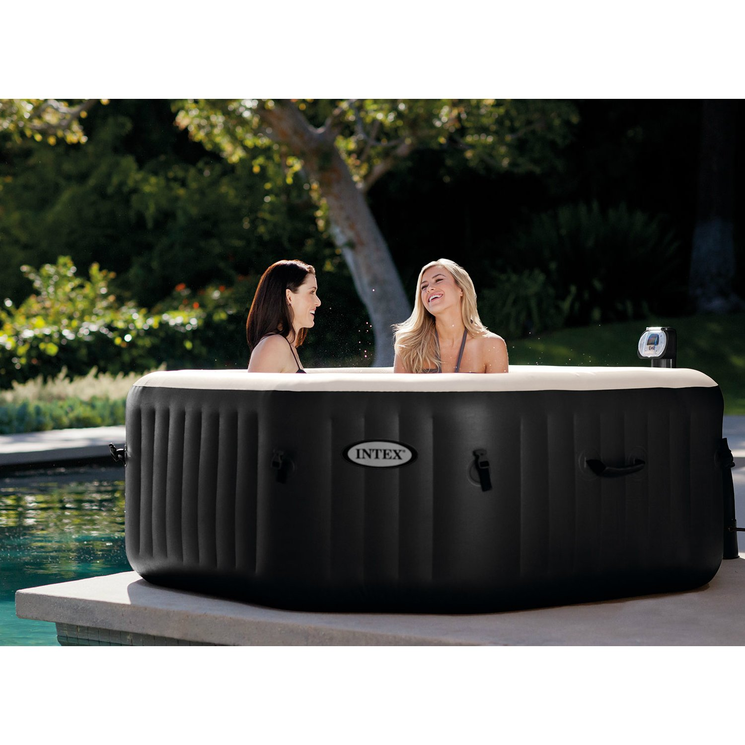 portable blue hot deluxe and aqua htm inflatable spa by toys water tub products person