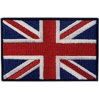 EmbTao Patches British Union Jack Embroidered England Flag UK Great Britain Hook & Loop Emblem